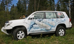 Toyota Land Cruiser 200 White bears Neklen
